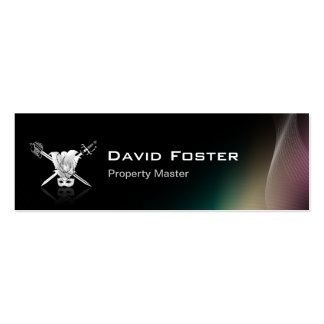 Props Property Master Manager Assistant Double-Sided Mini Business Cards (Pack Of 20)