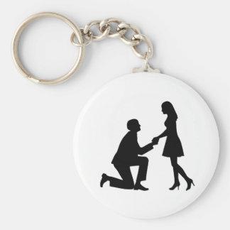 Propuesta de matrimonio del boda llaveros