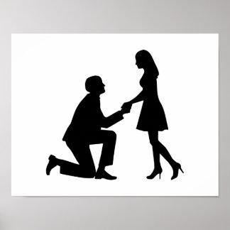 Propuesta de matrimonio del boda posters