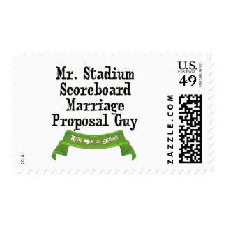 Propuesta de matrimonio del marcador sello postal