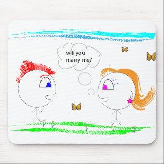 Propuesta de matrimonio original alfombrilla de ratones