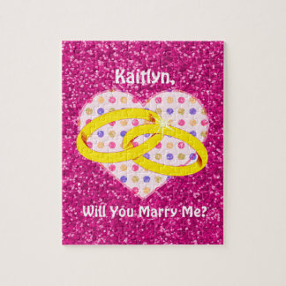 ¿Propuesta de matrimonio personalizada usted me Puzzle Con Fotos