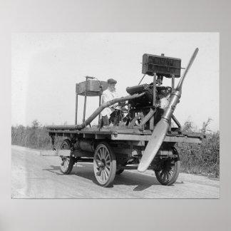 Propulsor extraño Vehicle, 1922. Foto del vintage Póster