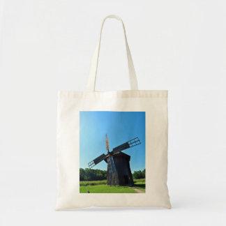 propulsor rural rústico del molino de viento de bolsa lienzo