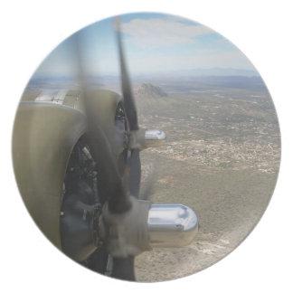 Propulsores de los motores del bombardero B-17 que Plato De Cena