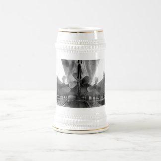 Propulsores titánicos jarra de cerveza
