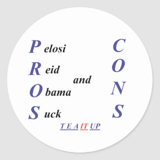 Pros and Cons Classic Round Sticker