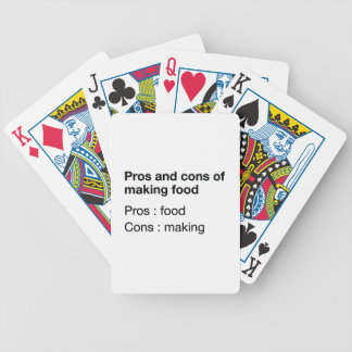 Pros And Cons Of Making Food Bicycle Playing Cards