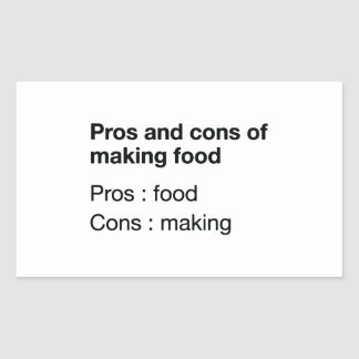 Pros And Cons Of Making Food Rectangular Sticker
