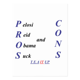 Pros and Cons Postcard