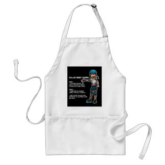 Pros and Cons Roller Derby Zombie Adult Apron