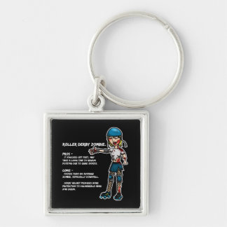 Pros and Cons Roller Derby Zombie Keychain