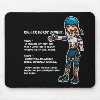 Pros and Cons Roller Derby Zombie Mouse Pad