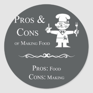Pros & Cons of Making Food Classic Round Sticker