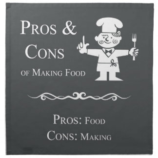 Pros & Cons of Making Food Cloth Napkin
