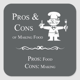 Pros & Cons of Making Food Square Sticker