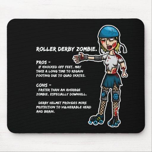 Pros - y - zombi de Derby del rodillo del contra Alfombrillas De Ratones