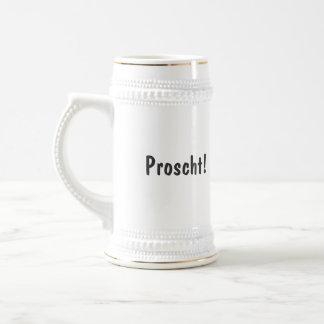 Proscht! Swiss drinking stein with flag