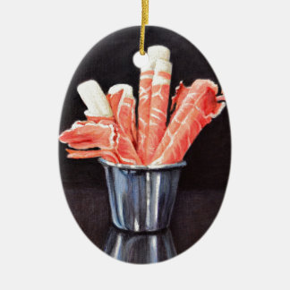Prosciutto Wraps Ceramic Ornament