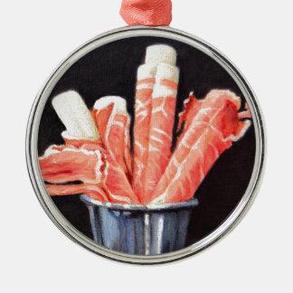 Prosciutto Wraps Metal Ornament