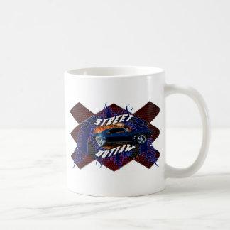 Proscrito de la calle del coche del músculo taza de café