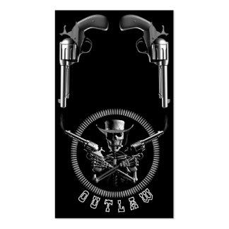 Proscrito del esqueleto tarjetas de visita