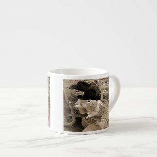 Proscritos de la ardilla en el viejo oeste taza espresso