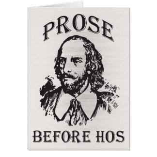Prose Before Hos - Shakespeare Card