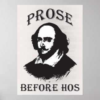Prose Before Hos - Shakespeare Print
