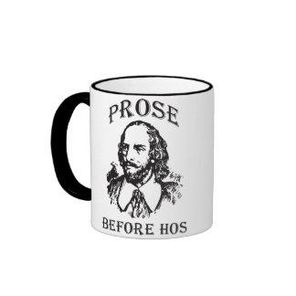 Prose Before Hos - Shakespeare Ringer Mug