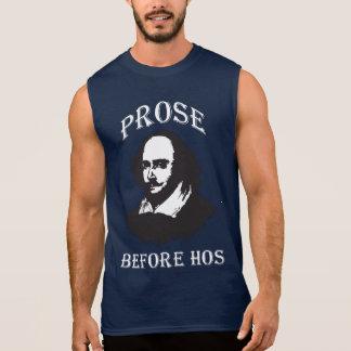 Prose Before Hos - Shakespeare Sleeveless Shirt