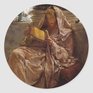 Prose by Sir Lawrence Alma-Tadema Classic Round Sticker