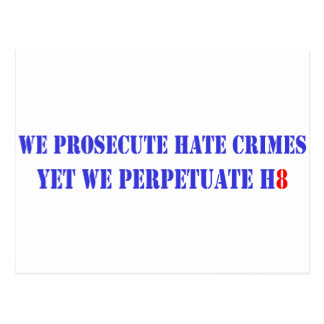 Prosecute Hate, H8 Postcard