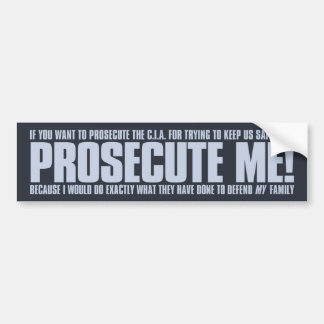 Prosecute Me Sticker - Blue on Dark Bumper Stickers