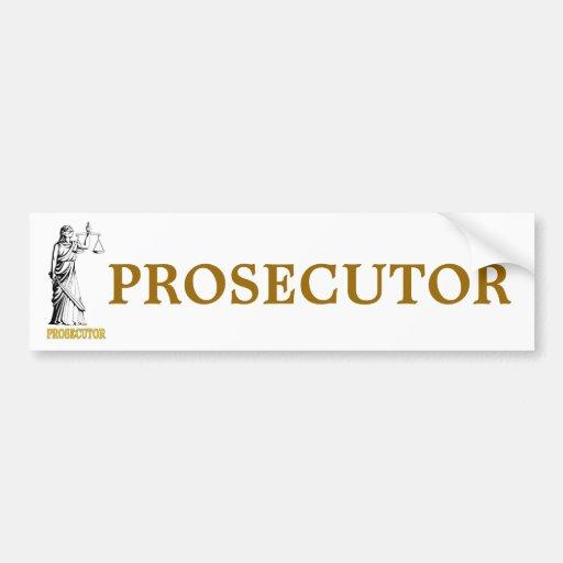 PROSECUTOR CAR BUMPER STICKER