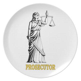 PROSECUTOR DINNER PLATES
