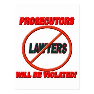 Prosecutors Will Be Violated Postcard