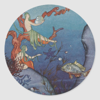 Proserpina and the Sea Nymphs Classic Round Sticker