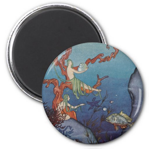 Proserpina y las ninfas de mar imán redondo 5 cm