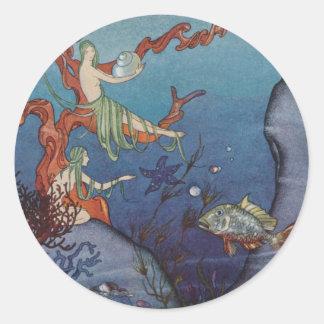 Proserpina y las ninfas de mar pegatina redonda