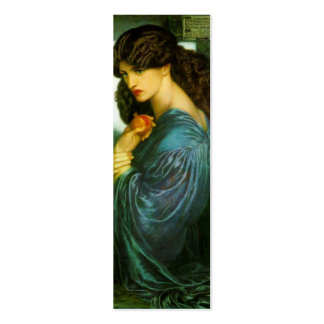 Proserpine Bookmark by Dante Gabriel Rossetti Double-Sided Mini Business Cards (Pack Of 20)