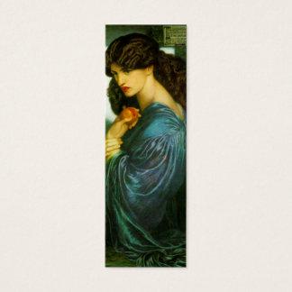 Proserpine Bookmark by Dante Gabriel Rossetti Mini Business Card