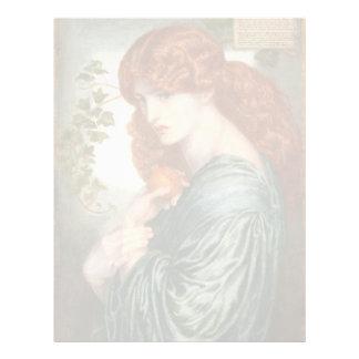 Proserpine by Dante Gabriel Rossetti Letterhead
