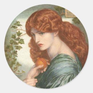 Proserpine by Dante Gabriel Rossetti Round Sticker