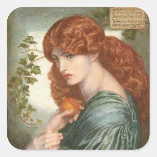 Proserpine by Dante Gabriel Rossetti Square Stickers