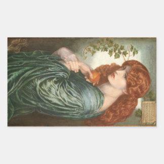 Proserpine by Dante Gabriel Rossetti Rectangle Sticker