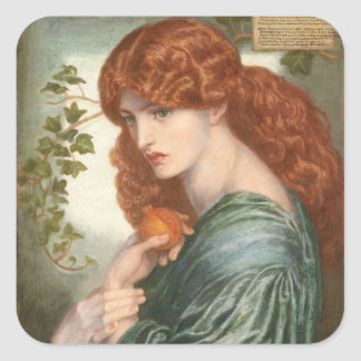 Proserpine by Dante Gabriel Rossetti Square Sticker