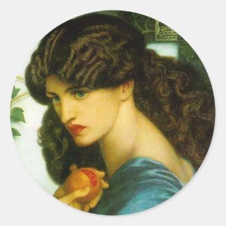 Proserpine - Dante Gabriel Rossetti Round Sticker