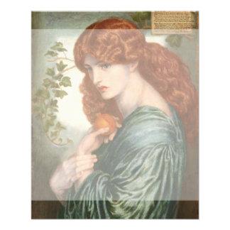 Proserpine de Dante Gabriel Rossetti Tarjeton