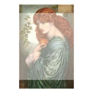 Proserpine de Dante Gabriel Rossetti Tarjetas Informativas